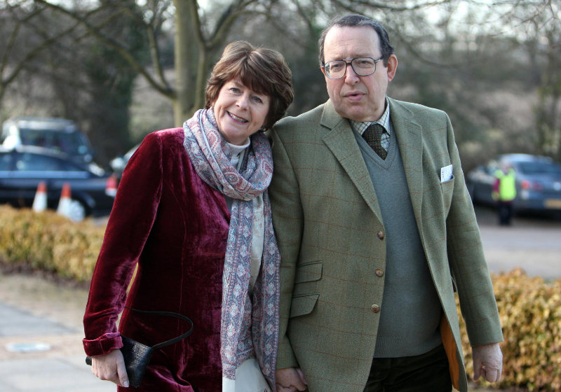 Pam Ayres and her husband Dudley Russell