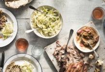 Simon Stallard's shredded pork shoulder with fennel slaw and caraway flatbreads