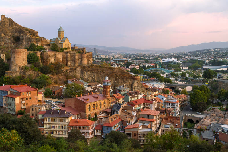 Travel trends 2020 Narikala Castle and view over Tbilisi, Georgia
