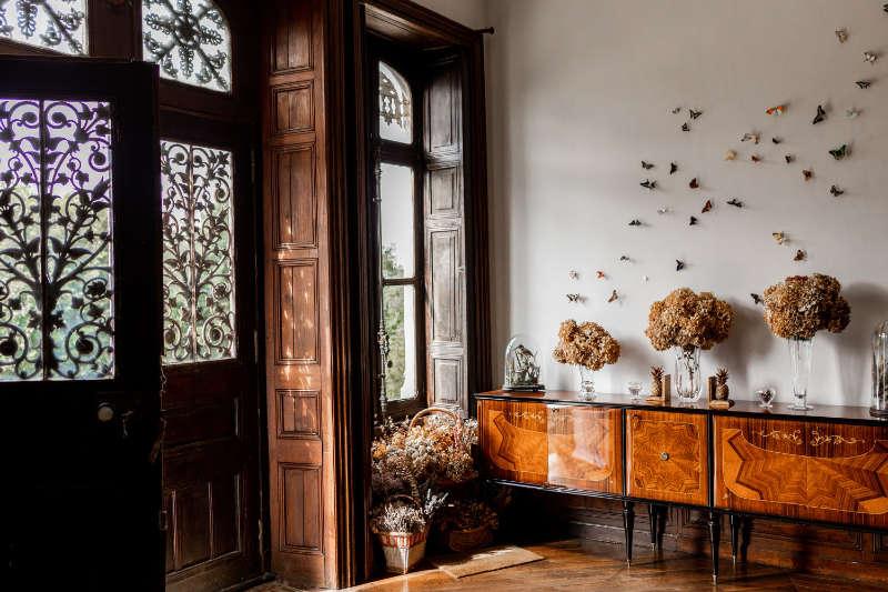 Angel's butterflies decorate a wall (John Hersey/PA)