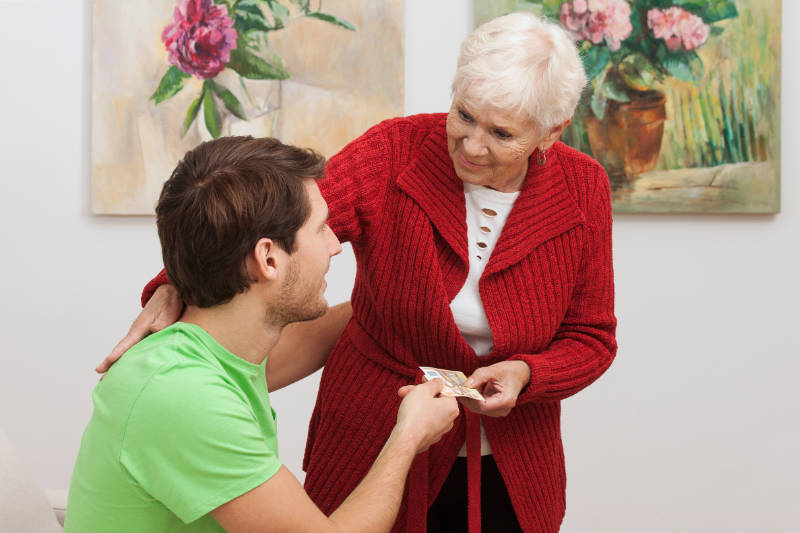 Giving money to grandchildren shouldn't be expected.
