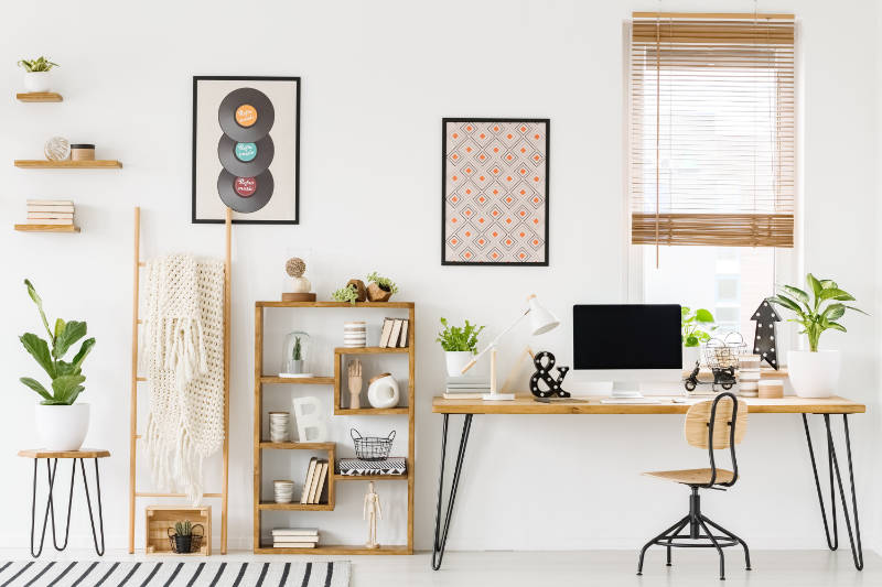A dedicated workspace can help create a happy, healthy home.