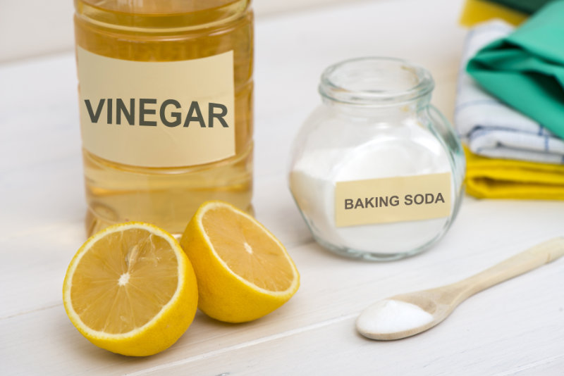 Home remedies for limescale include lemon, baking soda and vinegar.