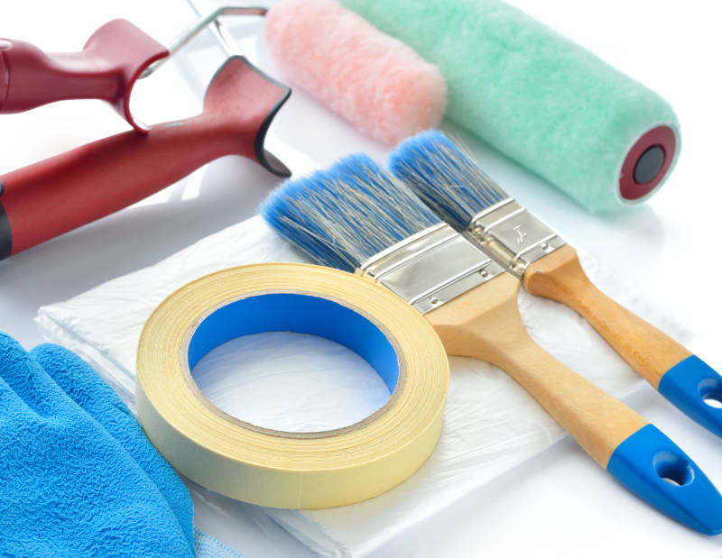 Painting and decorating tools for how to paint a room professionally.