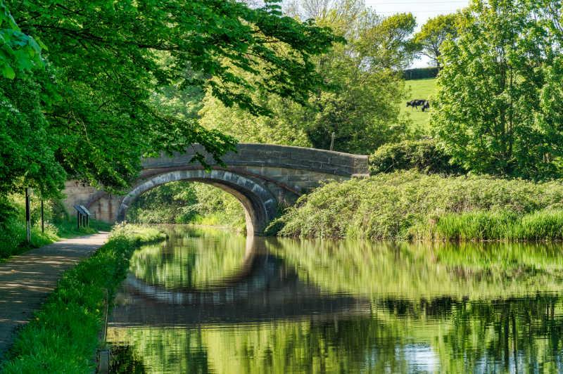 A bridge over the Lancaster canal near Lancaster.