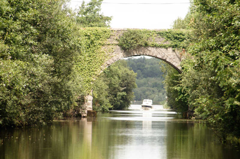Narrow boating on Lough Erne