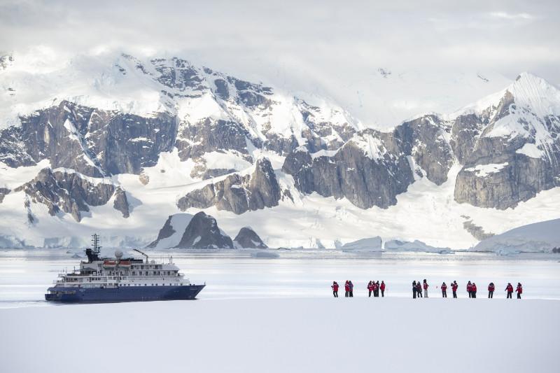Hebridean Sky in Portal point Antarctica (Renato Granieri/PA)
