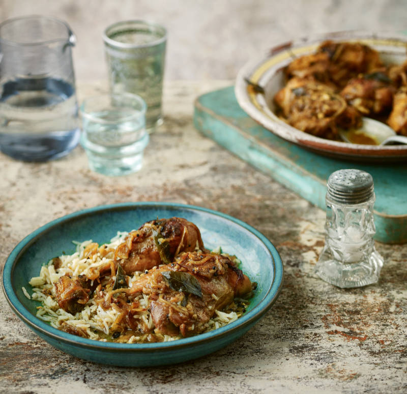 Coconut chicken curry from Chetna's Healthy Indian by Chetna Makan (Nassima Rothacker/PA)