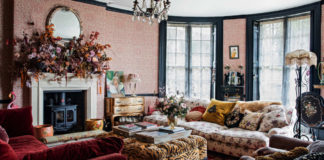Pearl Lowe's living room is featured in her book, Faded Glamour (Amy Neunsinger/CICO Books/PA)