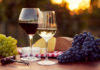 Two glasses of white and red wine at sunset (Thinkstock/PA)