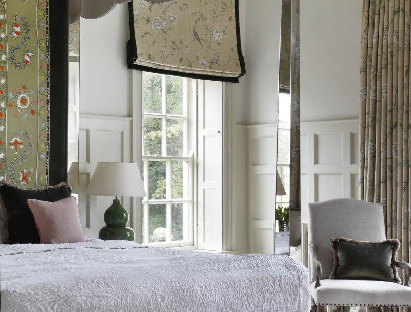 Antique fabrics on bed and window dressing, VSP Interiors, POA (VSP Interiors/PA)