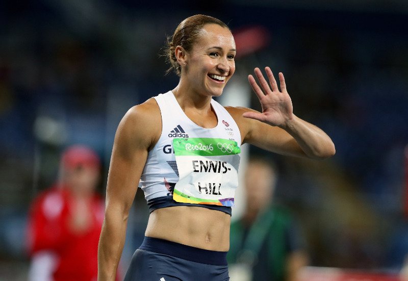 Jess Ennis-Hill competing at the Rio Olympics