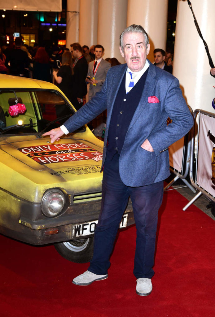 John Challis at the opening of the Only Fools and Horses The Musical in London in 2019. (Ian West/PA)