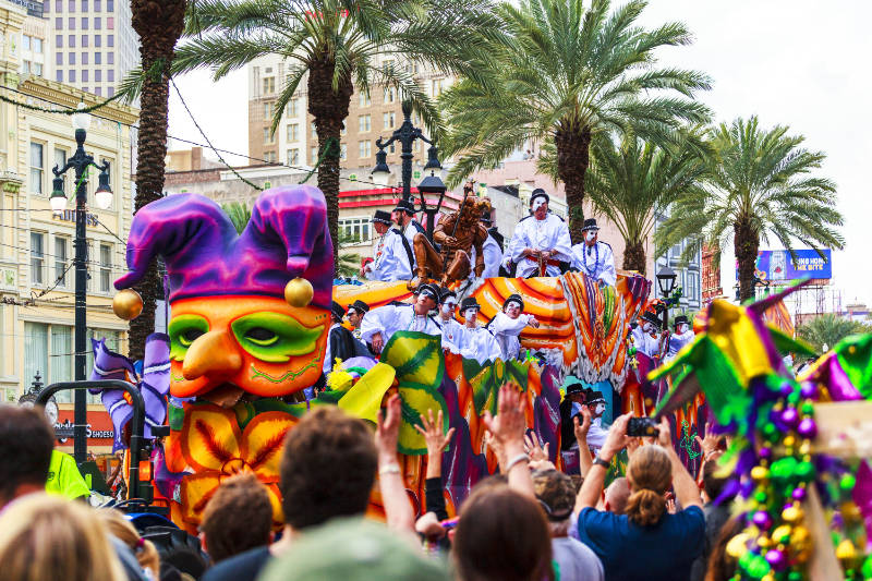 A Mardi Gras parade in New Orleans (iStock/PA)
