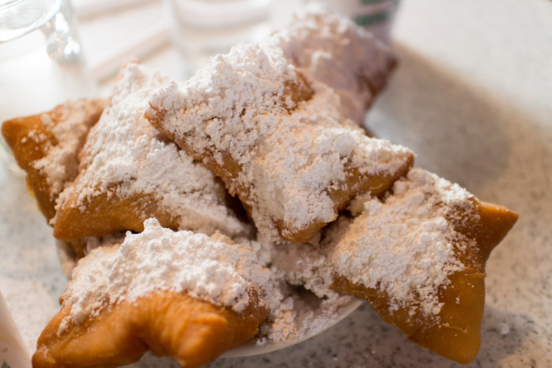 Image of a plate of French beignet.