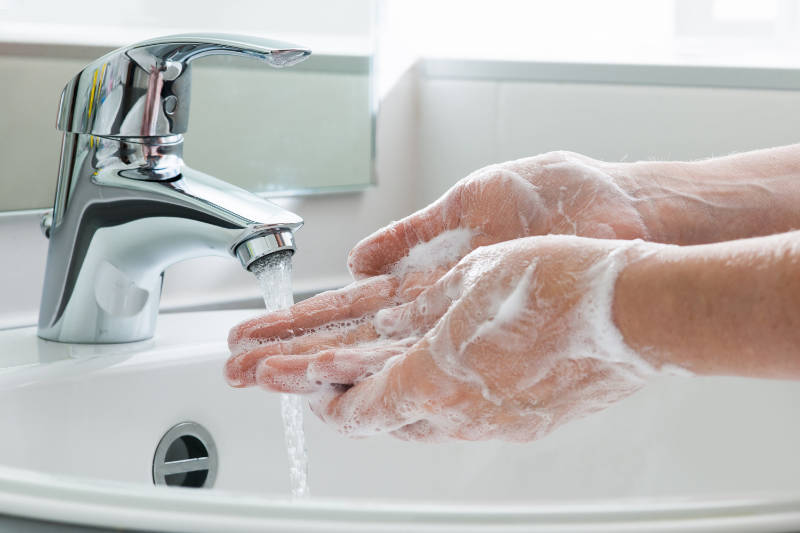 Wash hands to help prevent the spread of Covid-19 or coronavirus