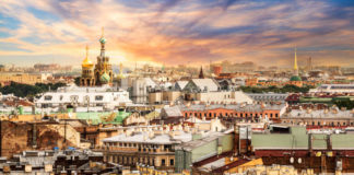 Second cities mini break St Petersburg skyline