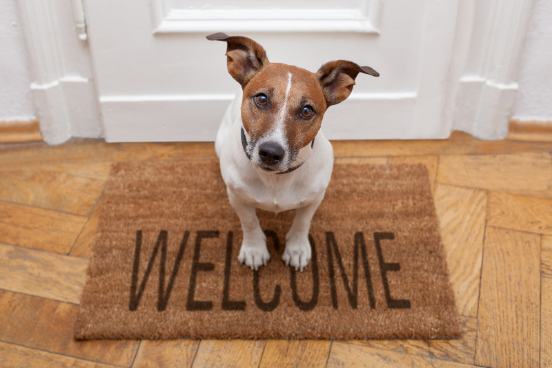 Add a doormat to help sell your home fast