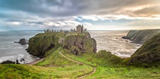 The Dunnottar Castle from above