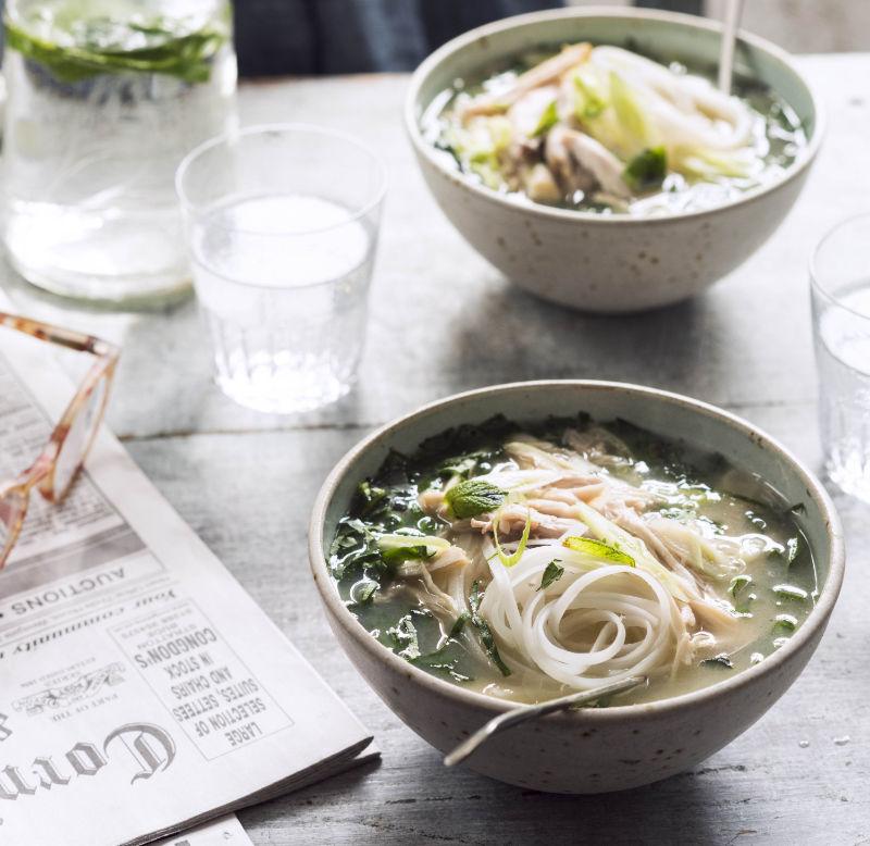 Chicken and wild garlic soup