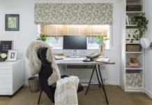 Liz Earle's home office (Hillarys/PA)