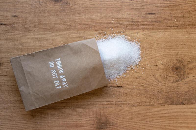 Eat less salt to help lower blood pressure.