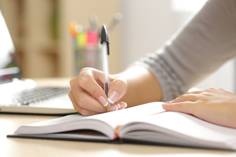 Coping with early menopause - keep a diary and record your thoughts.