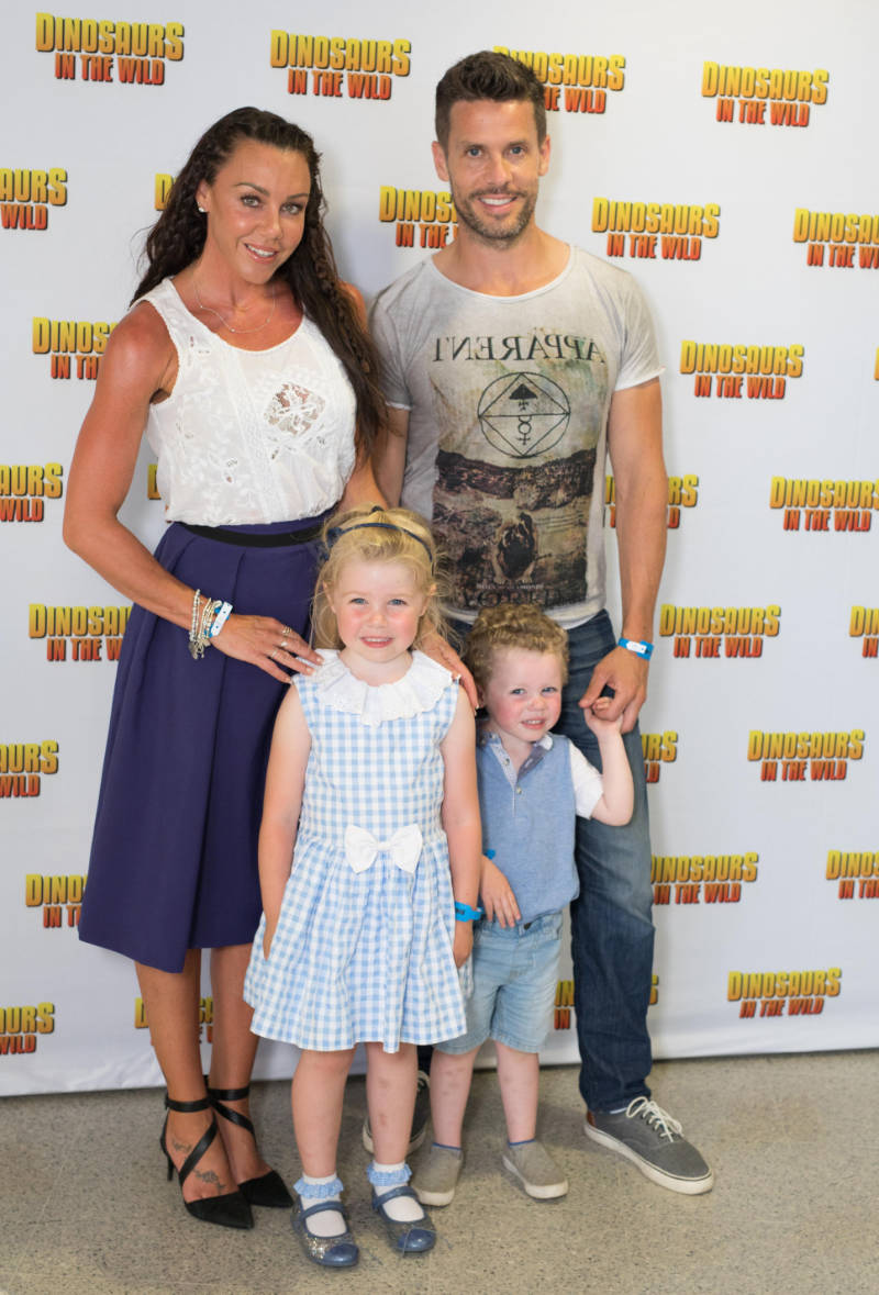 Coping with early menopause - Michelle Heaton, her husband, Hugh Hanley and their children, Faith and AJ. last year. (David Parry/PA)