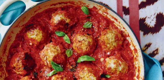 Turkey meatballs in a tomato sauce