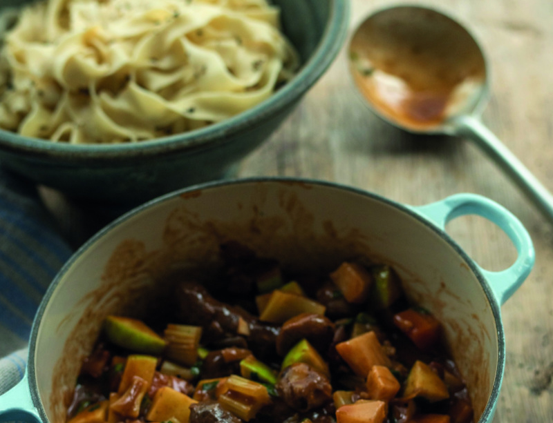 Tom Kitchin's venison sausage stew (Marc Millar/Absolute Press/PA)