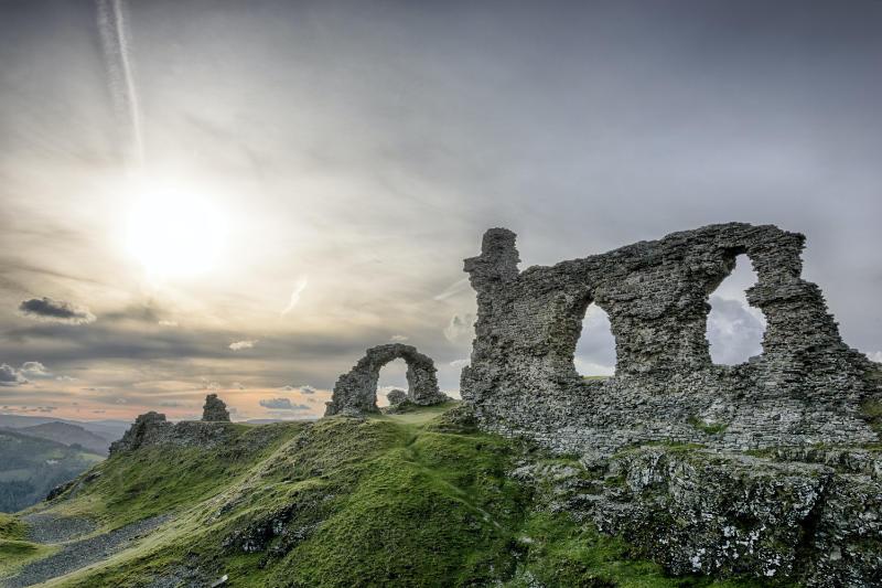 Best castle of Wales Castell Dinas Brân
