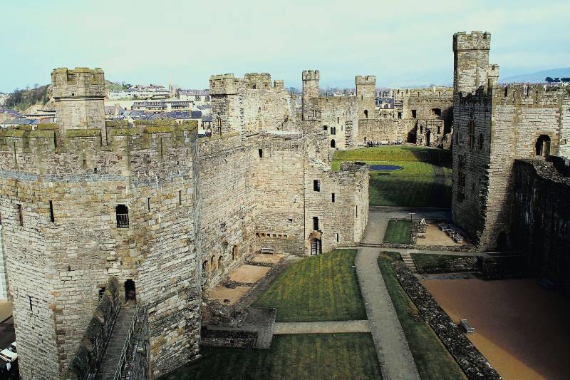 Best castles in Wales Caernarfon Castle