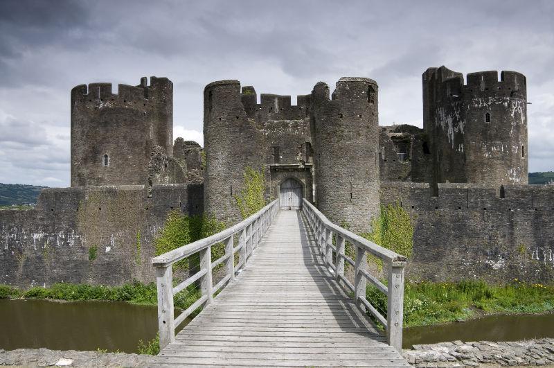 Best castles in Wales Caerphilly Castle