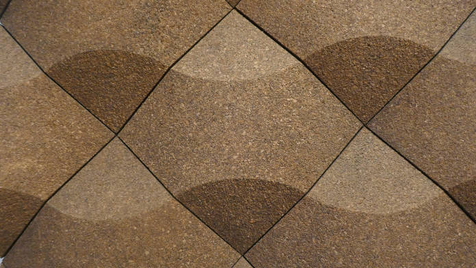 Cork flooring is less common.