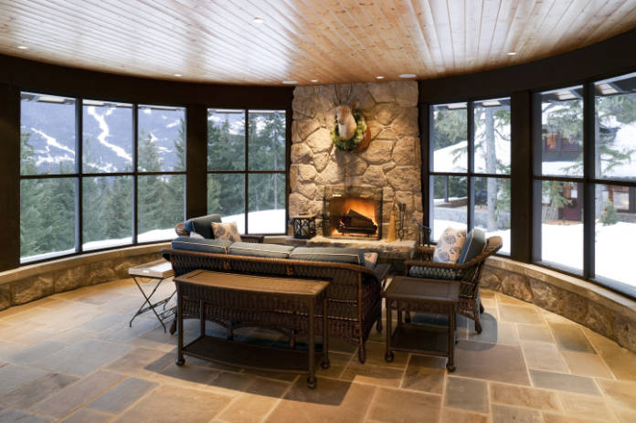 Traditional flooring ideas include stone