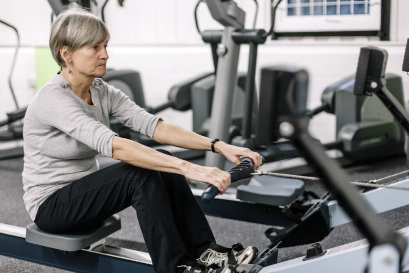 Rowing machine benefits any age can benefit