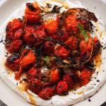 Hot charred cherry tomatoes (Jonathan Lovekin/PA)