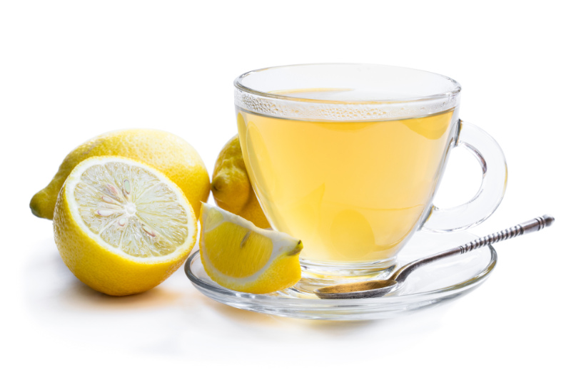 Too much caffeine Lemon drink isolated on white