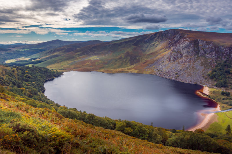 Guinness Lake - Lough Tay in the Wicklow Mountains near Dublin, Ireland