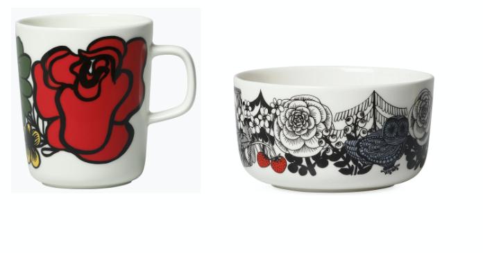 Elakoon Elama Oiva Mug, £18; Veljekset Bowl by Marimekko, £23, Heal's (Heal's/PA)