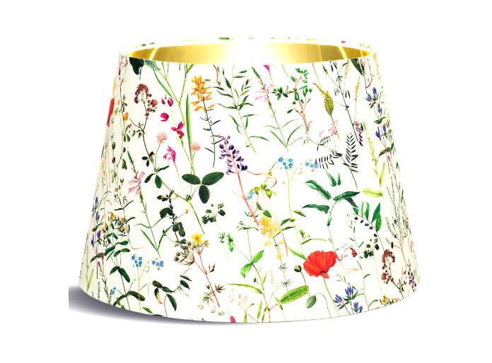 Spring Flowers Cone Lampshade With Gold Lining, £149, Mint & May (Mint & May/PA)