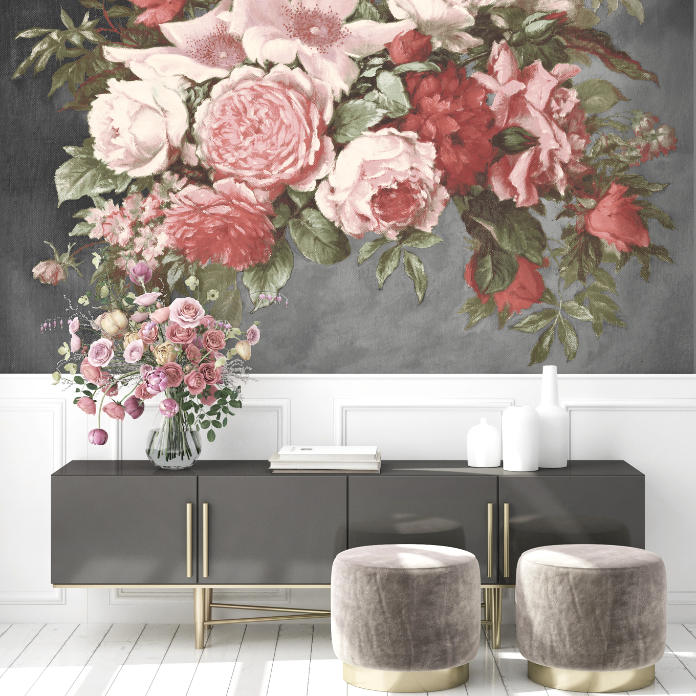 Still Life Rose Mural, from £29 per square metre, from a selection at Wallsauce (