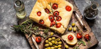 Focaccia art – with fresh cherry tomatoes