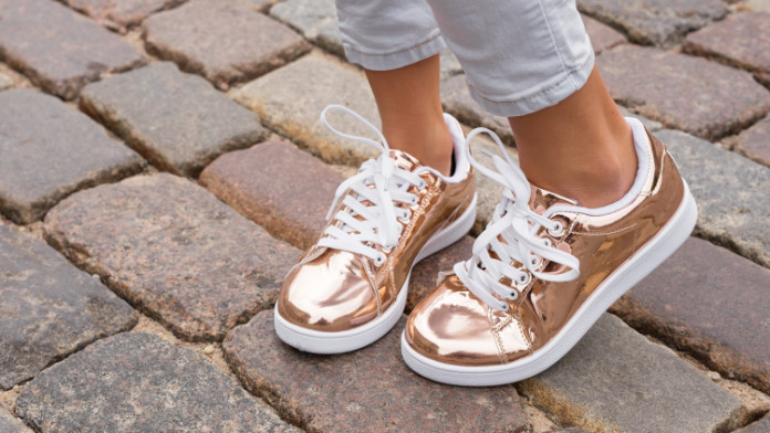 Generic photo of a young woman wearing a pair of fashionable trainers without socks (Thinkstock/PA)