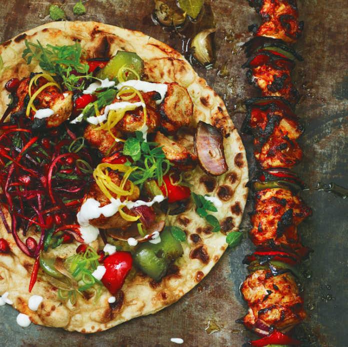 buttermilk chicken shish kebab from Berber & Q by Josh Katz (Ebury/James Murphy/PA)