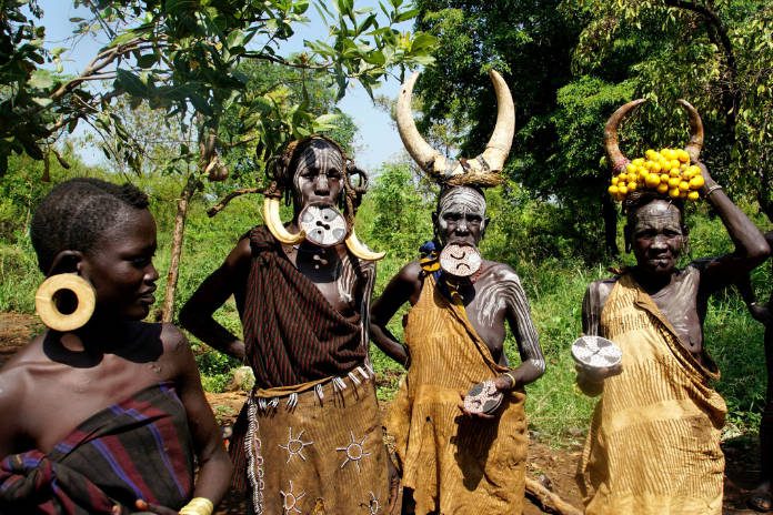 Indigenous people of the Omo Valley, Ethiopia (iStock/PA)