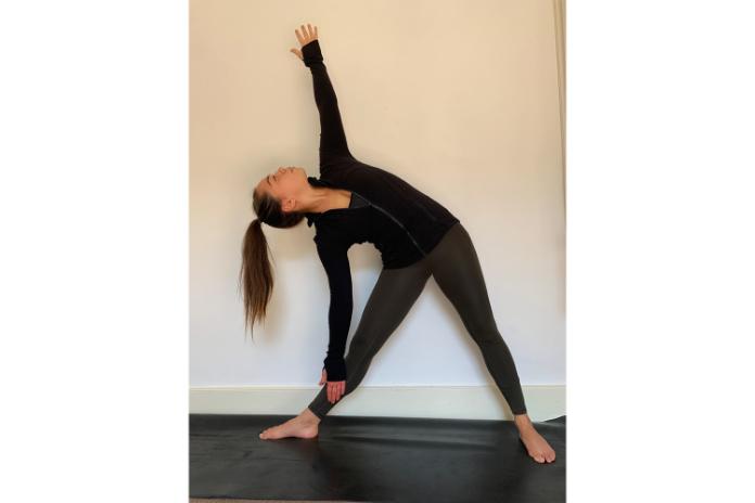 Yoga poses triangle pose