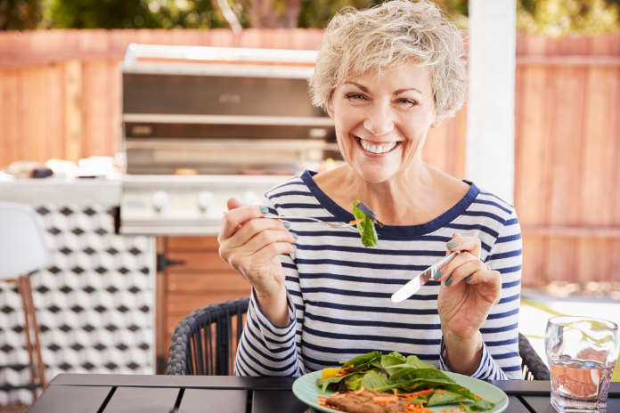 Eating a healthy diet is one of the Alzheimer's facts that could stave off the disease