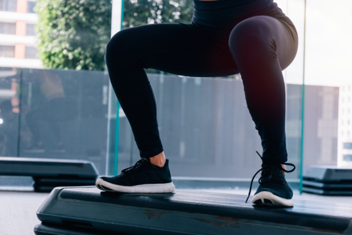 Anxiety exercises jump from squat