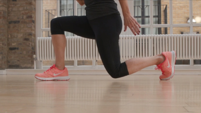 Anxiety exercises lunge